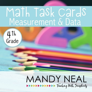 4th Grade Math Task Cards for Measurement and Data
