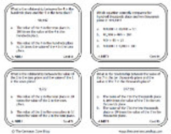 4th Grade Math Task Cards (All Standards)