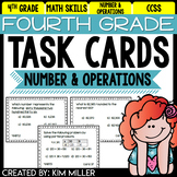 Math Test Prep Task Cards - 4th Grade Number & Operations Math Centers & Review