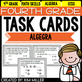 Math Test Prep Task Cards - 4th Grade Algebra Math Centers