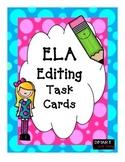 4th Grade Task Cards for ELA- Editing TEKS Aligned STAAR Review