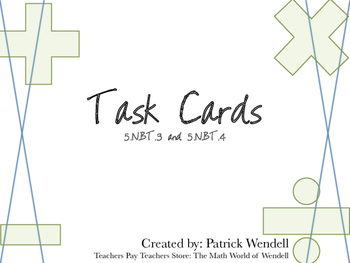 Task Cards for 5.NBT.3 and 5.NBT.4