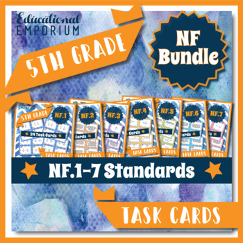 5th Grade Math Task Cards for ALL Fractions (NF) Common Co
