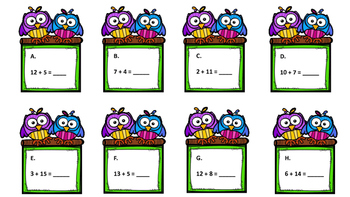 Task Cards: Addition and Subtraction within 20