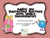 Task Cards for Adding and Subtracting Fractions with Unlike Denominators