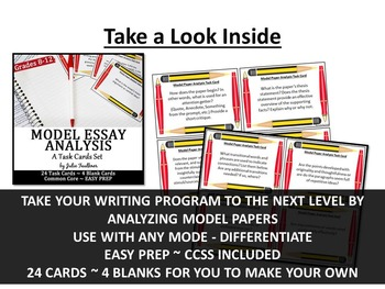 Task Cards for Analysis BUNDLE, Literature, Nonfiction, Poetry, Essays, Speeches