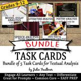 Task Cards for Analysis BUNDLE, Literature, Nonfiction, Po