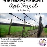 Task Cards for the Novella Apt Pupil by Stephen King