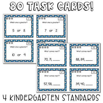Task Cards for Before/After and More/Less
