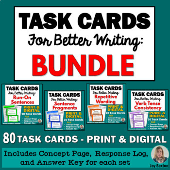 Task Cards for Better Writing: BUNDLE