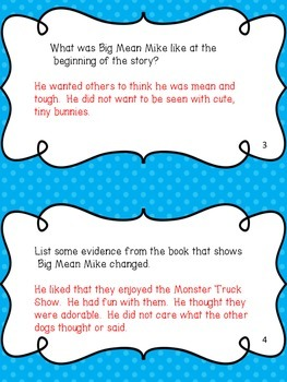 """Task Cards for """"Big Mean Mike"""""""