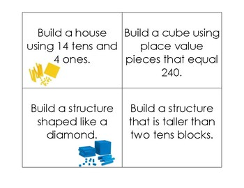 Task Cards for Building with Base 10 Blocks