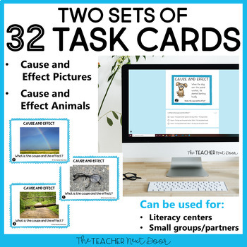 Cause and Effect Task Cards | Cause and Effect