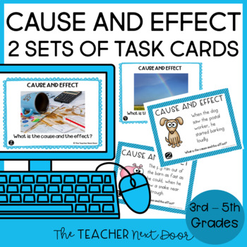 Cause and Effect Task Cards: Print and Digital | Distance Learning