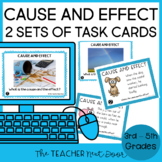 Cause and Effect Task Cards Print and Digital Distance Learning