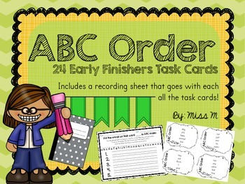 Task Cards for Early Finishers - ABC Order