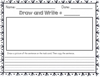 Task Cards for Early Finishers - Draw and Write