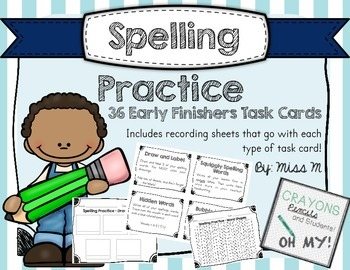 Task Cards for Early Finishers - Spelling Practice
