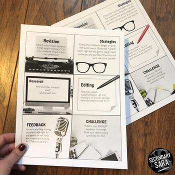 Editing & Revision Kit: Checklist, Activity, & Task Cards!