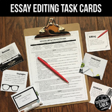 Essay Editing Checklist & Task Cards (UPDATED)