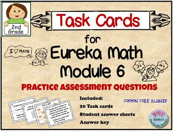 Task Cards for Eureka Math Module 6 - Practice Assessment Questions