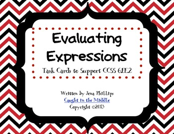 Task Cards for Evaluating Expressions