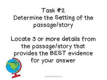 Task Cards for Fiction Standards