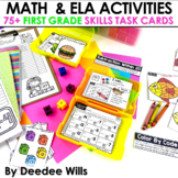Task Cards for First Grade | Math and Literacy Discounted for the first 48 hours