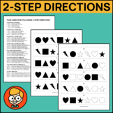 Task Cards for Following 2-Step Directions