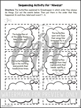 Grasshopper on the Road Guided Reading Response Packet