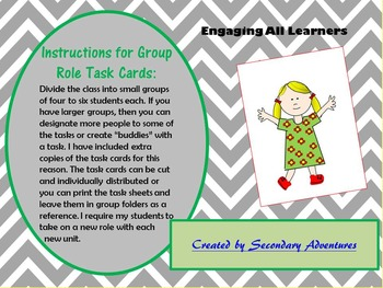 Group Roles Task Cards
