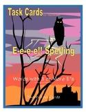 Halloween Task Cards  E-e-e-e!! Spelling