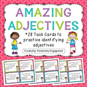 Identifying Adjectives Task Cards