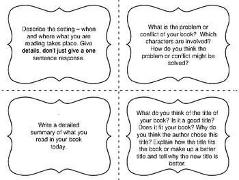 Task Cards for Independent Reading: Fiction Set