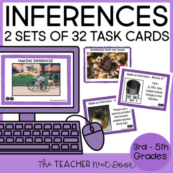 Task Cards for Inferences Informational Text 2nd - 5th Grade