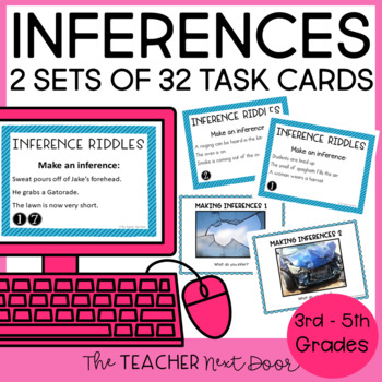 Task Cards for Inferences: Literature 2nd - 5th Grade