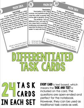Task Cards for Informational Text (4th-5th Grade)