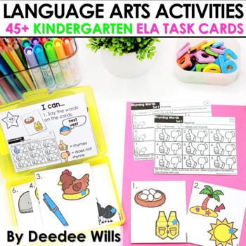 Task Cards for Kindergarten | Language Arts