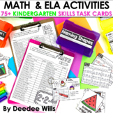 Task Cards for Kindergarten   Math and Literacy