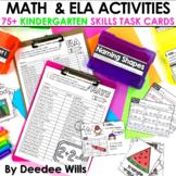 Task Cards for Kindergarten | Math and Literacy BUNDLE