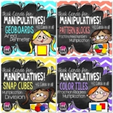 Using Manipulatives with Math Task Cards Bundle
