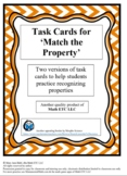 Task Cards for 'Match the Property'