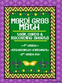 Task Cards for Math-Mardi Gras Theme (Based on 1st Grade Common Core)