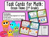 Task Cards for Math: Ocean Theme {First Grade CCSS}