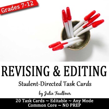Revising and Editing Task Cards, Any Essay Mode