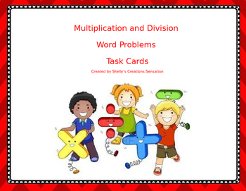 Task Cards for Multiplication and Division Word Problems