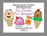 Task Cards for Multiplication and Division Practice Grade 3-Ice Cream Theme