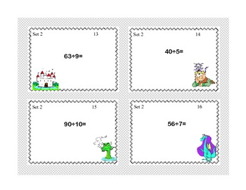 Task Cards for Multiplication and Division Practice Grades 3-4