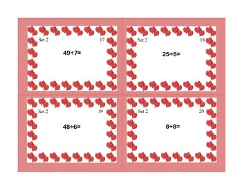 Task Cards for Multiplication and Division Practice Grades 3-4 Valentine's Day