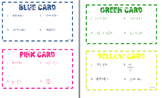 Task Cards for Multiplying and Dividing Rational Numbers